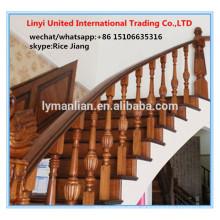 Corrimão de carvalho vermelho Final de madeira decorativa postar as escadas