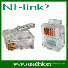 Rj12 6p6c cat3 plug modulaire