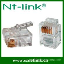 Telephone 6p6c modular plugs