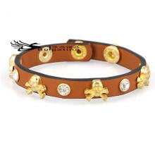 Squelette en cuir Bracelets Mens à vendre, Nouveau cuir véritable en cuir de vache Bracelets Prix de gros