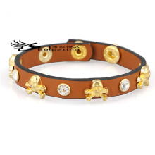Skeleton Leather Bracelets Mens For Sale,New Genuine Leather Cowhide Bracelets Wholesale Price