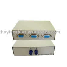 2 Port VGA Monitor Switch Box Sharing Switch from 2 PC to 1 Monitor