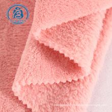 tissu velours 100% polyester tissu polaire corail