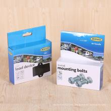 Caja de embalaje acanalada de papel de la venta al por menor de las guarniciones de encargo del metal