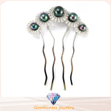 Woman Charm Fashion Jewelry Rhodium Plated Flower 925 Silver Jewelry Hairpin (H0002B)