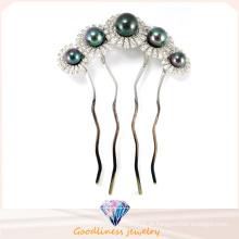 Jóia da forma do encanto da mulher O rhodium chapeou o hairpin da jóia de prata da flor 925 (h0002b)