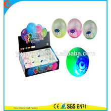 Hot Sell Kid's Toy Rubber LED Flashing Eye-printed Light-up Water Bouncing Ball