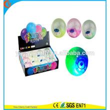 Игрушка резиновая горячая распродажа детский светодиодный мигающий глаз-печатный светло-до воды прыгающий мяч