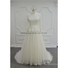Venda quente Sereia Vintage Lace Applique Nupcial Vestidos De Casamento
