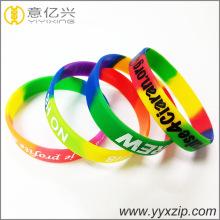 bracelet coloré de silicone de bracelet de segment coloré