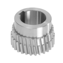 Baja paduan Machined Double Helical Gear dengan HUb