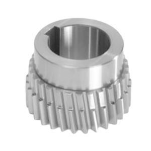 Steel alloy Machined Double Helical Gear with HUb