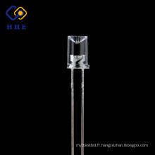 Lentille concave claire de l'eau de 5mm LED émettant le rouge pour la bande menée