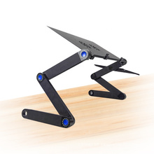 Customized Popular Foldable Portable Desk Laptop Notebook Table Stand with usb Fan and Mouse Pad