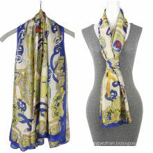 Fashion Printing chiffon 100% silk mosi scarf Square Scarf