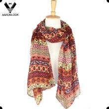 Мода дешевая геометрия печатные продолговатые шарф