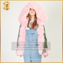 China Servicio de OEM Custom Jacket Real Coats forro piel Parka