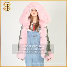 China OEM Service Custom Jacket Real Coats Forro Fur Parka