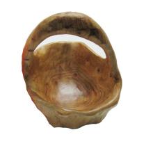 Antike Primitive geschnitzte natürliche hölzerne Schüssel