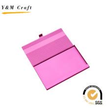 Titular de la tarjeta de nombre de metal rosa de grado superior con alta calidad