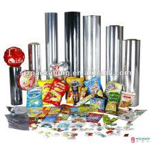 Semi metallised Mylar film for visible food packaging