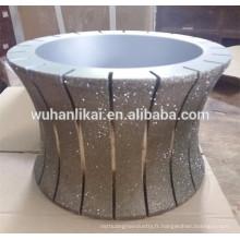 Le prix le plus bas pierre de roue de profil de diamant, meule de marbre de granit