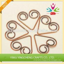 Various shape metal paper clip