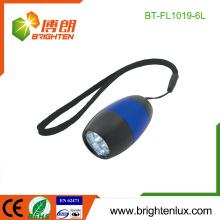 Fábrica a granel de color 2 * CR2032 alimentado por batería de emergencia de aluminio de material promocional baratos Mini 6 llevó la luz de la antorcha