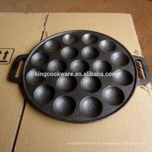 assadeira de ferro fundido assando panela redonda do molde do bolo da bandeja 19 furos