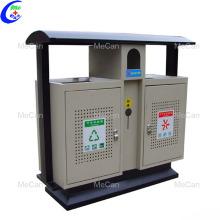 Panneau solaire poubelle intelligente extérieure en acier inoxydable