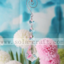 Transparent 16CM Baroque Leaf Chandelier Prisms Pendants