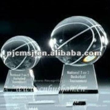 Trophée en cristal de basket-ball de récompense de boule pour le cadeau de gagnant