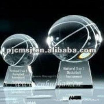 Ball Award Crystal Basketball Trophy For Winner Gift