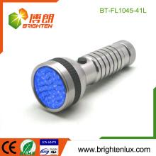 Vente en vrac en usine 4 * Ordinateur de poche à pile AAA Meilleur 395-400nm Scorpion Aluminium led uv Torch Lampe de poche
