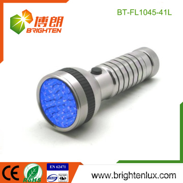 Factory Bulk Sale 4*AAA Battery Operated Handheld Best 395-400nm Scorpion Aluminum led uv Torch Flashlight