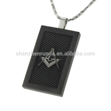 Мужская нержавеющая сталь с черным покрытием кулон квадратный кулон ювелирные изделия по продажам