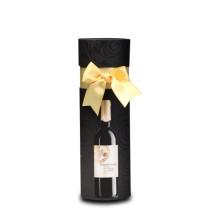 Boîte à vin ronde de qualité supérieure avec ruban