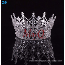 Wholesale newest design rhinestone full round princess crown for girls