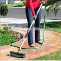 cepillo al aire libre de mango largo, escoba de barrido de jardín