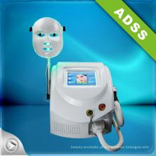Máquina da remoção do cabelo do IPL com máscara do diodo emissor de luz