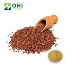 Extracto de semilla de lino Secoisolariciresinol Polvo de lignanos de lino