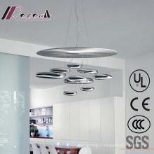 Lampe de plafond accrochante intérieure européenne de chrome pour le projet d'hôtel