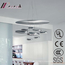 Европейский хром крытый вися потолочная лампа для проекта гостиницы