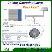 Équipement de l'hôpital Opération chirurgicale sans ombre Lampe / lampe de fonctionnement MSLLED01i avec faible consommation d'énergie et LED durable