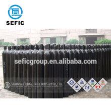 CGA 580 valve ISO9809 seamless steel water capacity 40L 6M3 oxygen argon gas cylinder