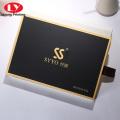 cosmetic black kraft paper sliding drawer box packaging