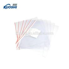 fashinal clear display plástico pvc zip lock saco de documentos