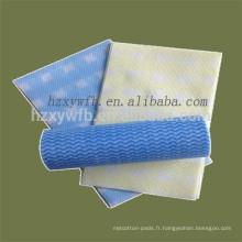 Chiffon de nettoyage non-tissé multifonctionnel de Spunlace