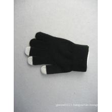 10g Black Polyester Liner Three Finger Touch Work Glove-T3107