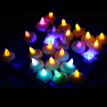 Vela led flotante con pilas colorida para la decoración